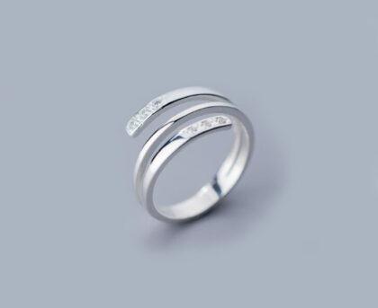 Inel argint 925 dublu zirconiu