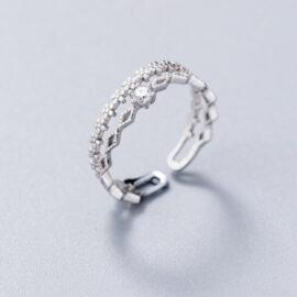 Inel elegant zirconiu argint 925