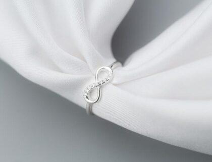 Inel infinit argint 925 zirconiu profil