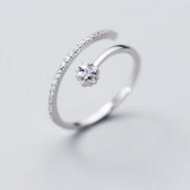 Inel zirconiu elegant argint 925