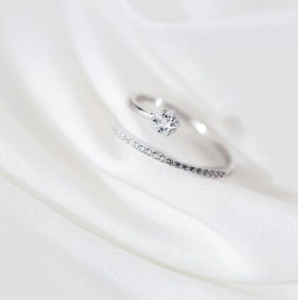Inel zirconiu elegant argint 925 sus
