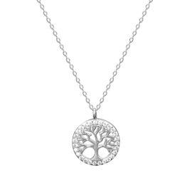 Lantisor argint 925 copacul vietii zirconiu