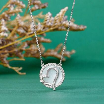 Lantisor argint 925 pandantiv inimioara zirconiu