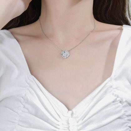 Lantisor argint 925 pandantiv inimioara zirconiu model