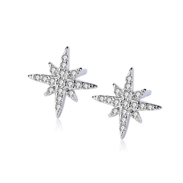 Cercei stelute zirconiu argint 925