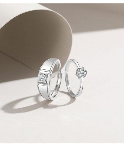Inele argint 925 deosebite cuplu fata