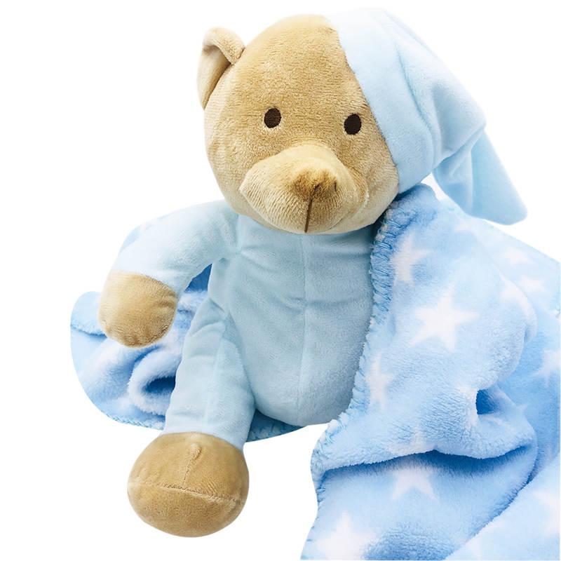 Set ursulet cu paturica albastra