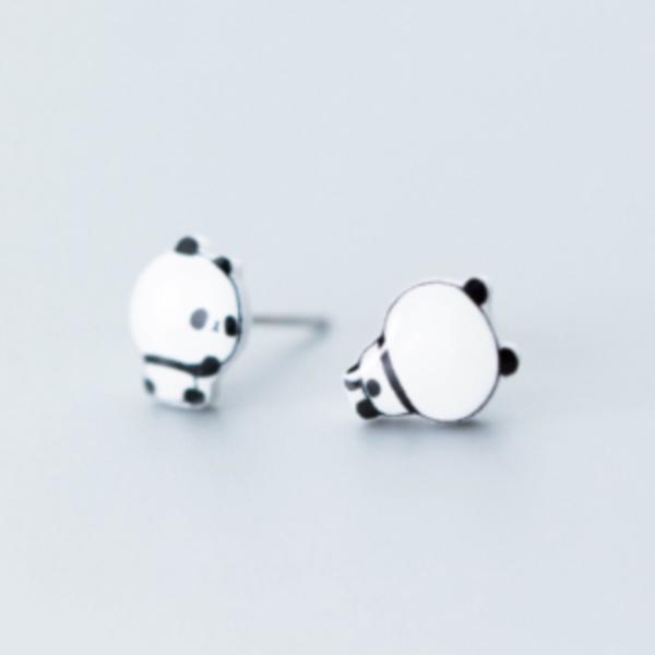 Cercei argint 925 model panda