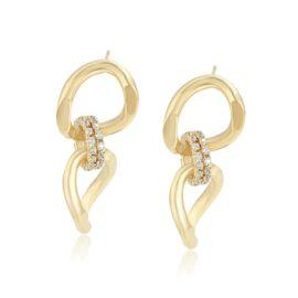 Cercei eleganti placati aur Bijou