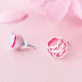 Cercei roz candy argint 925