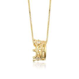 Colier placat aur 14K Reina