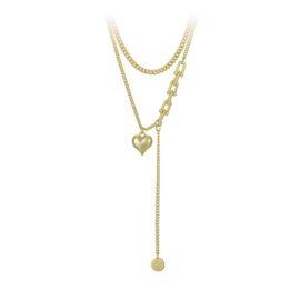 Lant placat aur Heart Chain