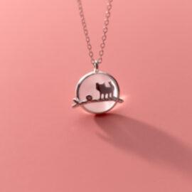 Lantisor argint 925 pisicuta