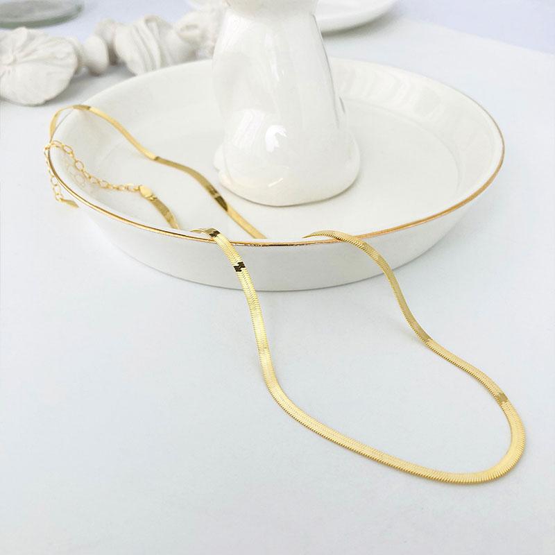 Colier elegant lat argint 925 placat aur