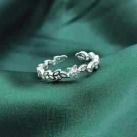 Inel ajustail argint 925 floricica zirconiu