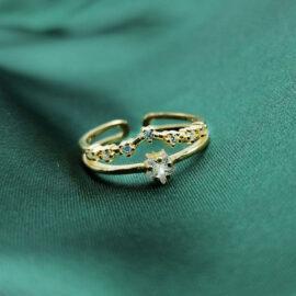 Inel argint 925 elegant placat aur