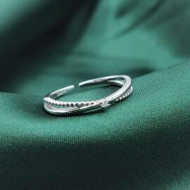 Inel finut argint 925 ajustabil