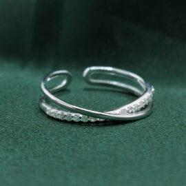 Inel finut argint 925 zirconiu
