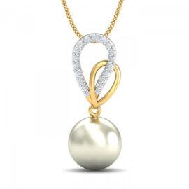 Colier argint 925 placat aur zirconiu si perla
