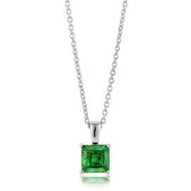 Colier argint 925 zirconiu verde Serena