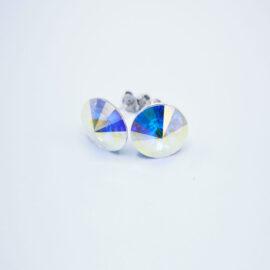Cercei argint 925 cu elemente Swarovski surub