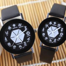 Ceasuri cuplu Yazole cadran deosebit